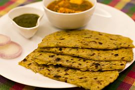 Leftover-daal-chapati-with-paneer-curry